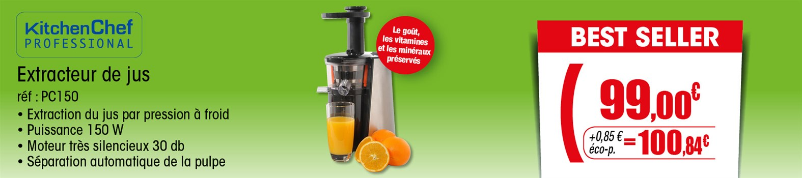 Extracteur de jus KitchenChef PC150